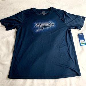 Speedo Front Logo SS UV Protection T-Shirt L NEW